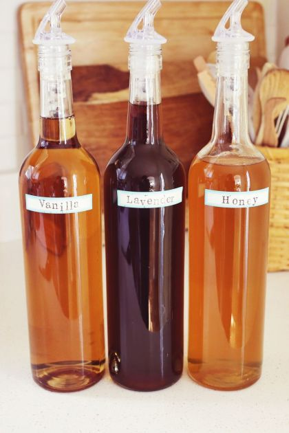 Honey and Lavender Syrups