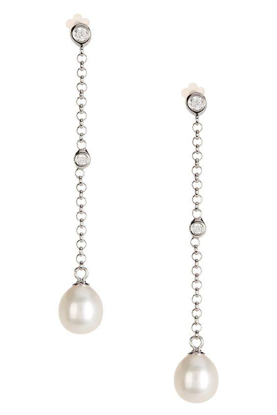 Chain Drop 7.5-8mm Freshwater Pearl Earrings on @HauteLook