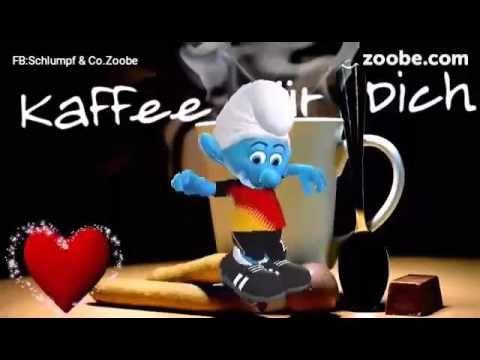 Guten Morgen❤ Ein Kaffee für Dich❤ Zoobe Schlumpf Videos Schlümpfe Anima...