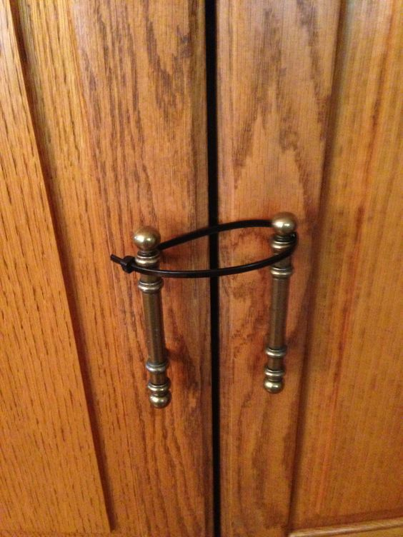 Lazy Susan Child Lock Custom Use A Cable Tie To Baby Proof Your High Cabinet Doors Design Inspiration