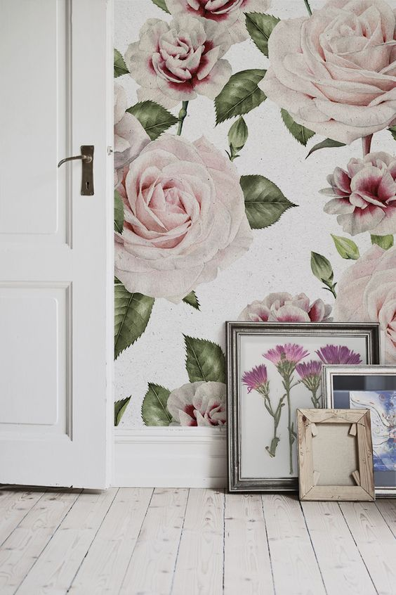 Love florals? You'll love this stunning floral wallpaper design. The beauty of roses and carnations are timeless, making this a popular wallpaper choice for your home. It looks wonderful in living room spaces, bringing style and sophistication to any wall it touches.:
