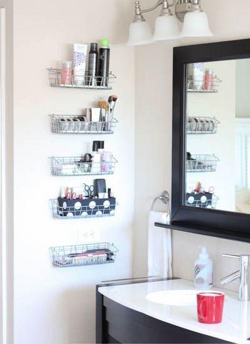 20 Small Diy Wall Bathroom Organization Ideas You Can Make Simple Bathroom Remodel Bathroom Wall Storage