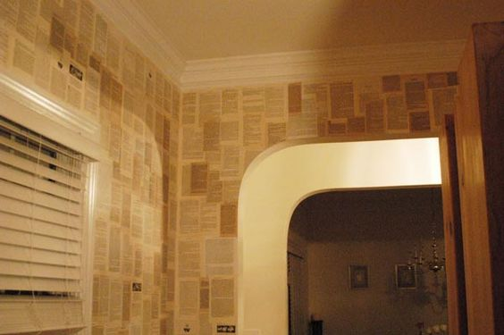 wallpaper made from books...