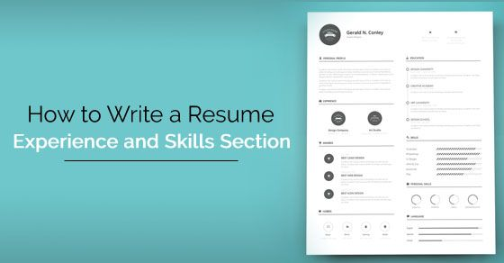 How to Write a Resume Skills and Experience Section? - #wisestep - resume skills section