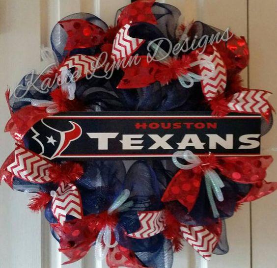 Houston Texans Wreath by KarieLynnDesigns on Etsy