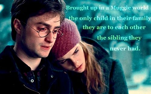 I never thought of Harry and Hermione like this but it makes their friendship that much sweeter.