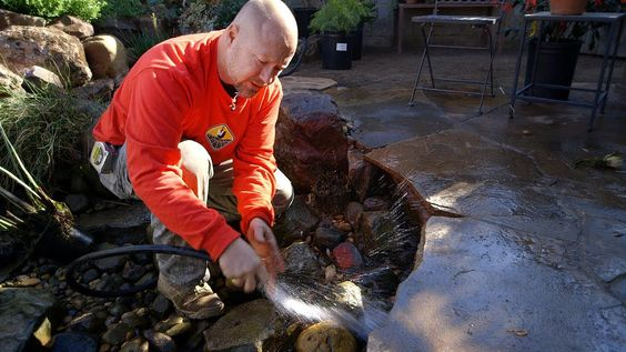 Pond care spring pond maintenance 2 of 5 pond service for Fish pond cleaning service