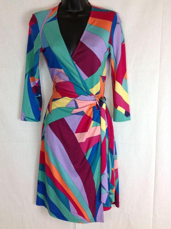 Diane Von Furstenberg Wrap Dress Wonder Woman Star Diana Silk Jersey 4 #DianeVonFurstenburg #WrapDress #Casual
