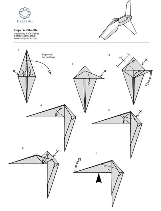 """10 Diagrams To Create Your Own """"Star Wars"""" Origami ... - photo#34"""