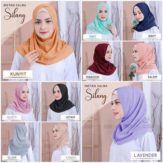 Jilbab Instan Salwa Silang Terbaru 2020 Trend Fashion