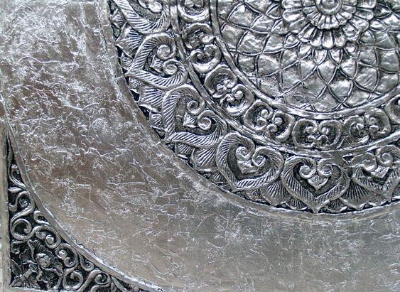 ESTUDIO DELIER | Mandala tibetano plata 120x120