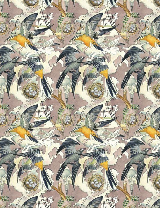 #Birds repeating #pattern by Daniel Mackie.