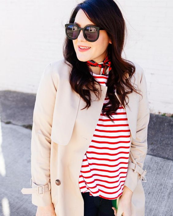 Channeling my inner French muse this Friday. More of these stripes on the blog! http://liketk.it/2qreG @liketoknow.it #liketkit #stripes #ootd #LTKunder50