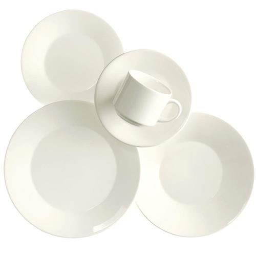 Aparelho de Jantar, Chá e Sobremesa Biona Branco A638 0802 - 20 Peças