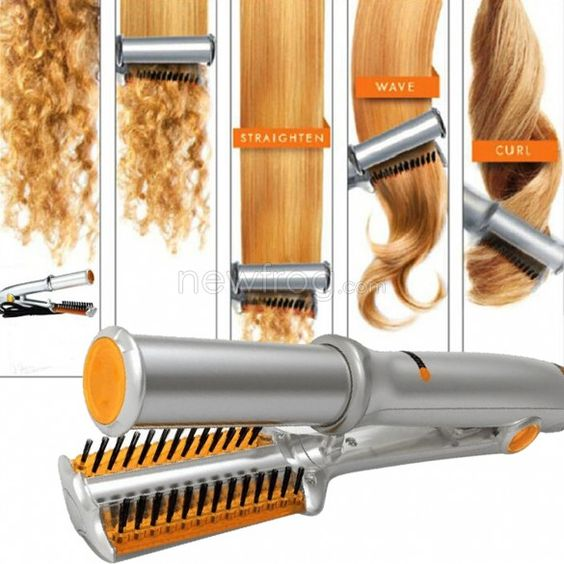Electric Hair Curler Comb Volume Comb Straight Hair Electric Splint Photo 4