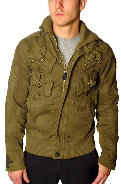 "J. Steger - ""BUNKER"" Army Green Jacket www.motard-chic.com"