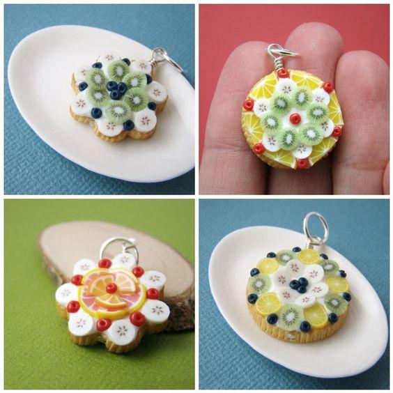Miniature Food Jewelry - Bijoux Gourmands - Fruit Tart Pendant   Flickr – Condivisione di foto!