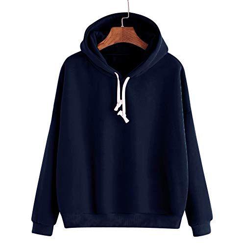 JSPOYOU Women Tops Autumn Long Sleeve Hoodie Sweatshirt Letters Hooded Pullover Tops Blouse