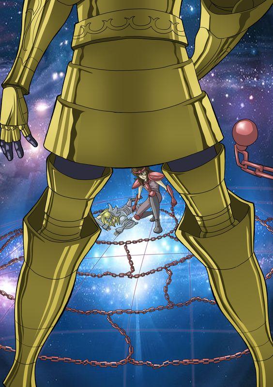 Projeto que eu iniciei para ilustrar a batlaha das 12 Casas de Saint Seiya. Aqui, a batalha contra a armadura de Gêmeos.