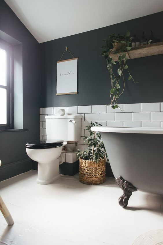 My Favourite Bathroom Inspirations On Pinterest Right Now Small Bathroom Remodel On A Budge Easy Bathroom Makeover Bathroom Color Schemes Bathroom Inspiration