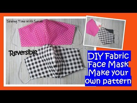 How To Make A Fabric Face Mask Free Pattern No Printer Needed