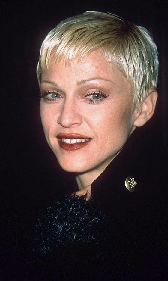 Pin By Toxic Glam On All Hail The Queen Madonna Hair Short Cropped Hair Crop Hair