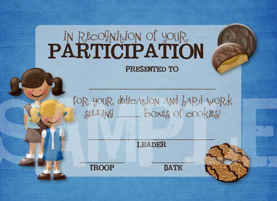 printable participation certificate