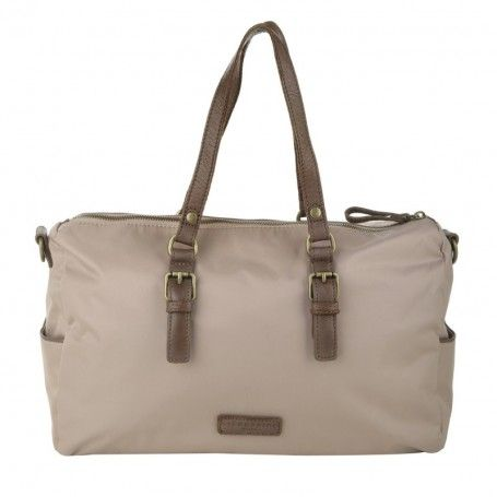 Liebeskind Tasche – Pavla Nylon Cloud Grey – in beige – Henkeltasche für Damen