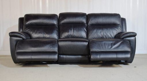 Black Leather Sofa 3 Seater Electric Recliner Touch 49 With Images Black Leather Sofas Sofa Leather Sofa