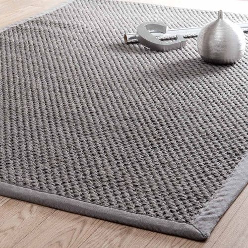 Tapis tressé en sisal gris 160 x 230 cm BASTIDE MAISON DU