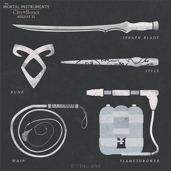 Shadowhunter Outfit and Weapons - Polyvore
