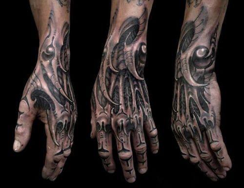 Biomechanical Tattoos For Men 2018 Biomechanical Tattoo Skeleton Hand Tattoo Cyborg Tattoo