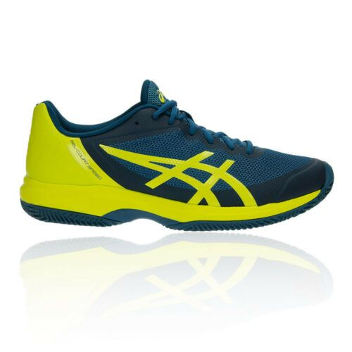 52 Off Was 104 99 Now 49 99 Asics Mens Gel Court Speed Clay Tennis Shoes Navy Blue Yellow Sports Breathable With Images Tennis Shoes Mens Running Tops Running Tshirts
