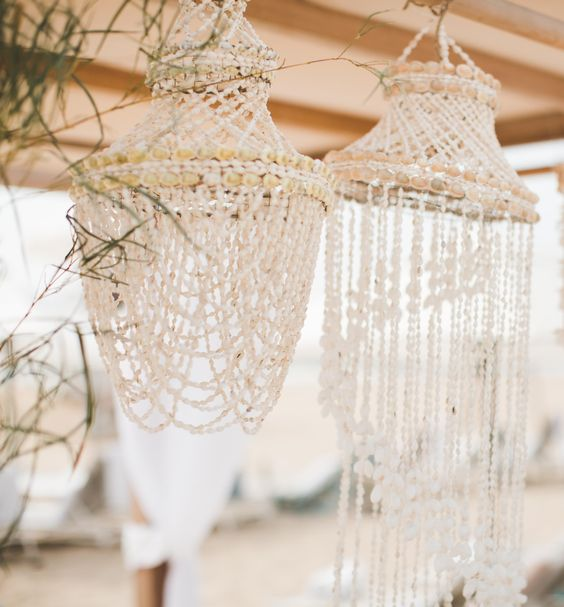 major decor envy over these seashell wind chimes    Billabong's 'Learn to Surf' Day