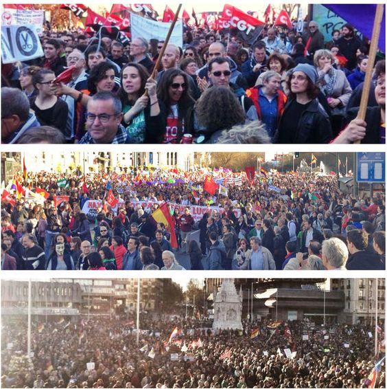 Imagenes de la marcha.