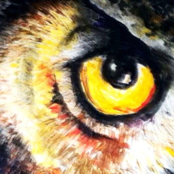 Owl Eyes Paintings Owl eye painting | Art...