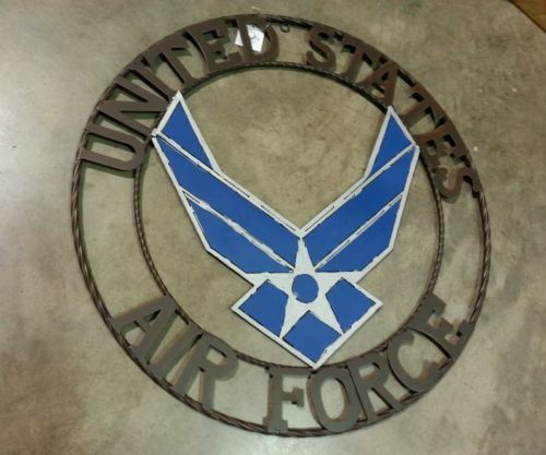 """24"""" US AIRFORCE MILITARY METAL WALL ART WESTERN HOME DECOR NEW"""