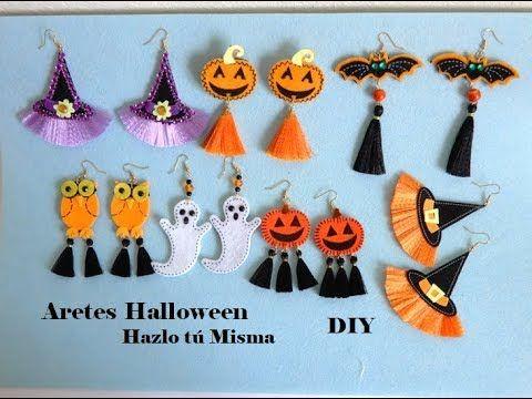 Haga Fácil Rápido Y Económicos Aretes Para Halloween Easy Diy Earrings Youtube Joyería De Bricolaje Manualidades Cosas De Halloween