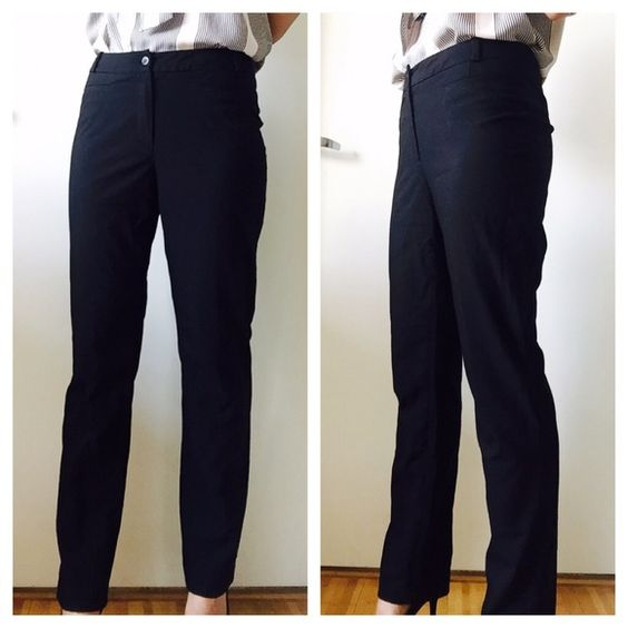 H&M black work pants | D, Black office and Pants