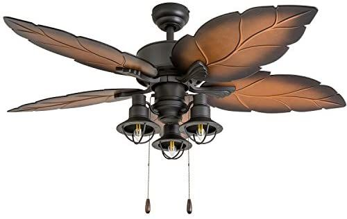 Amazon Com Prominence Home 50653 01 Ocean Crest Ceiling Fan 52 Mocha Tropical Bronze Home Improv In 2020 Ceiling Fan Ceiling Fan Pull Chain Tropical Ceiling Fans