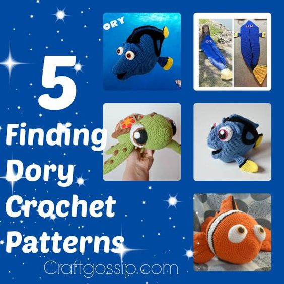 5 Of The Best Finding Dory Crochet Patterns Crochet ...