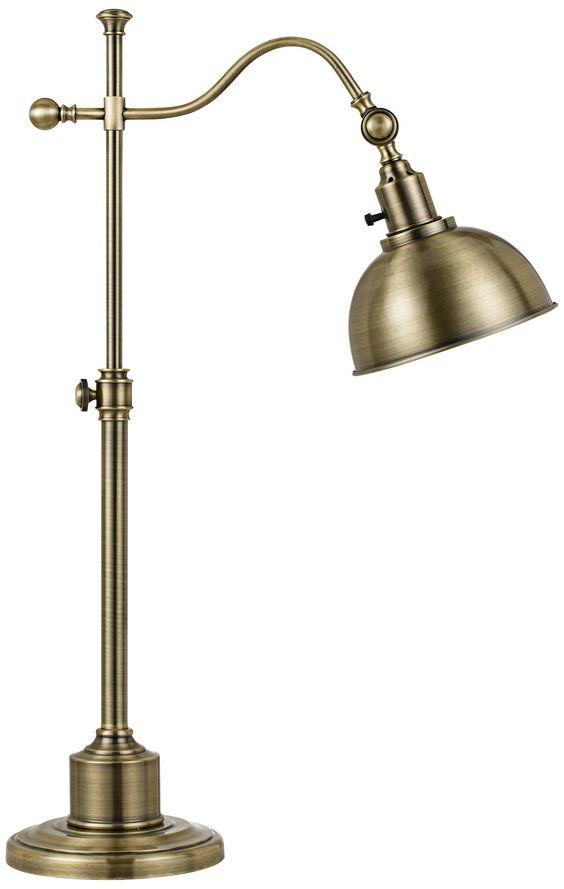 Portico Antique Brass Adjustable Pharmacy Desk Lamp