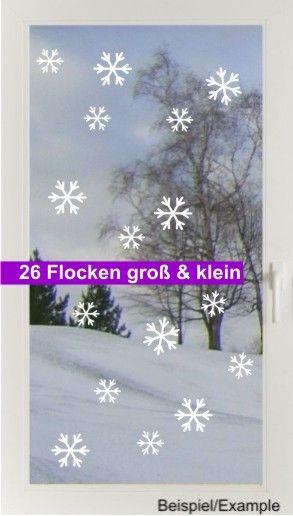 Weihnachtsdeko - Schneefall - Mix - Fenstertattoo Set - ein Designerstück von CatrinKerschl bei DaWanda