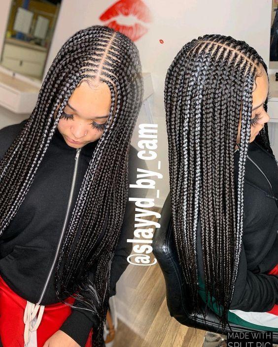 37 Ghana Braids Styles A Must See For Trendy Ladies In 2020 Weave Hairstyles Braided Ghana Braid Styles Ghana Braids