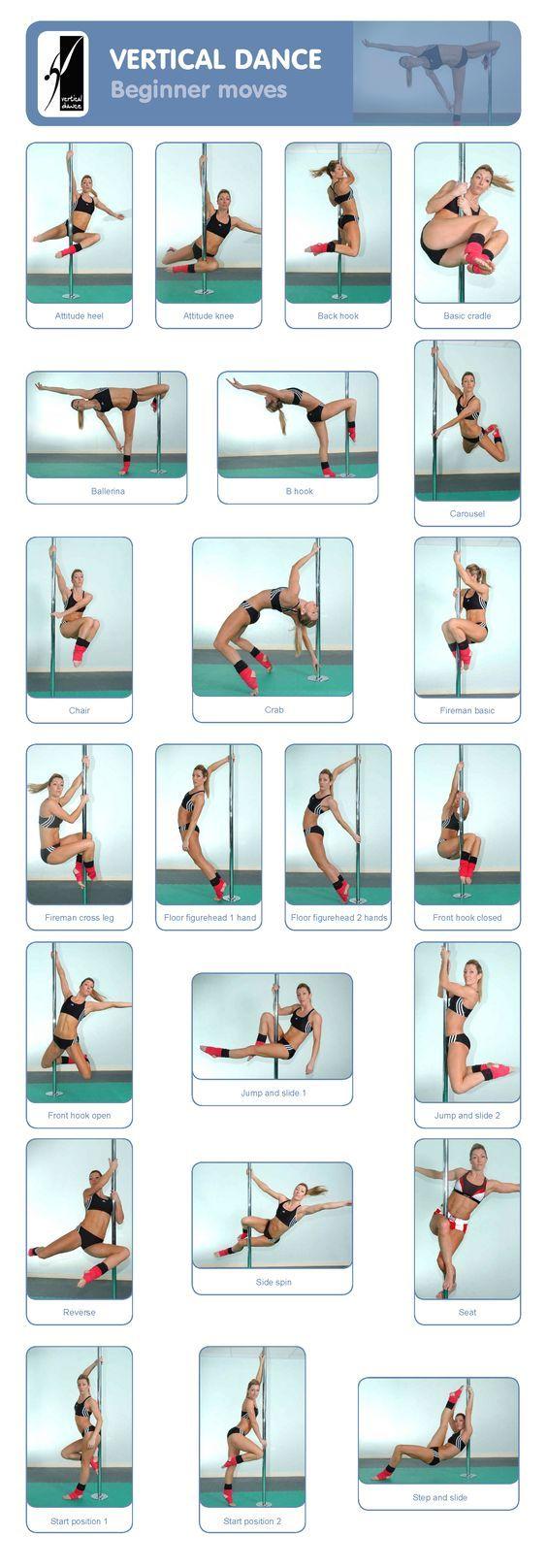 Pole Dance Training - Beginner moves: