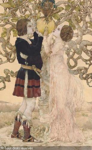 Gustav Adolf Mossa  -  Adam and Eve