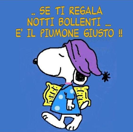 buonanotte Snoopy notti bollenti