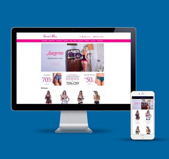 Criação da loja virtual Secrets Divas na plataforma Iluria.