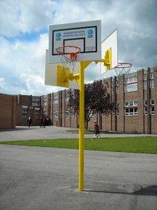 Triple Basketball Post, Basketball & Netball Posts, AMV Playgrounds.