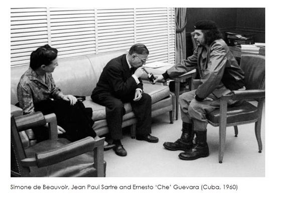 Simone De Beauvoir, Jean-Paul Sartre and Che Guevara Cuba, 1960 - sp le f r k che